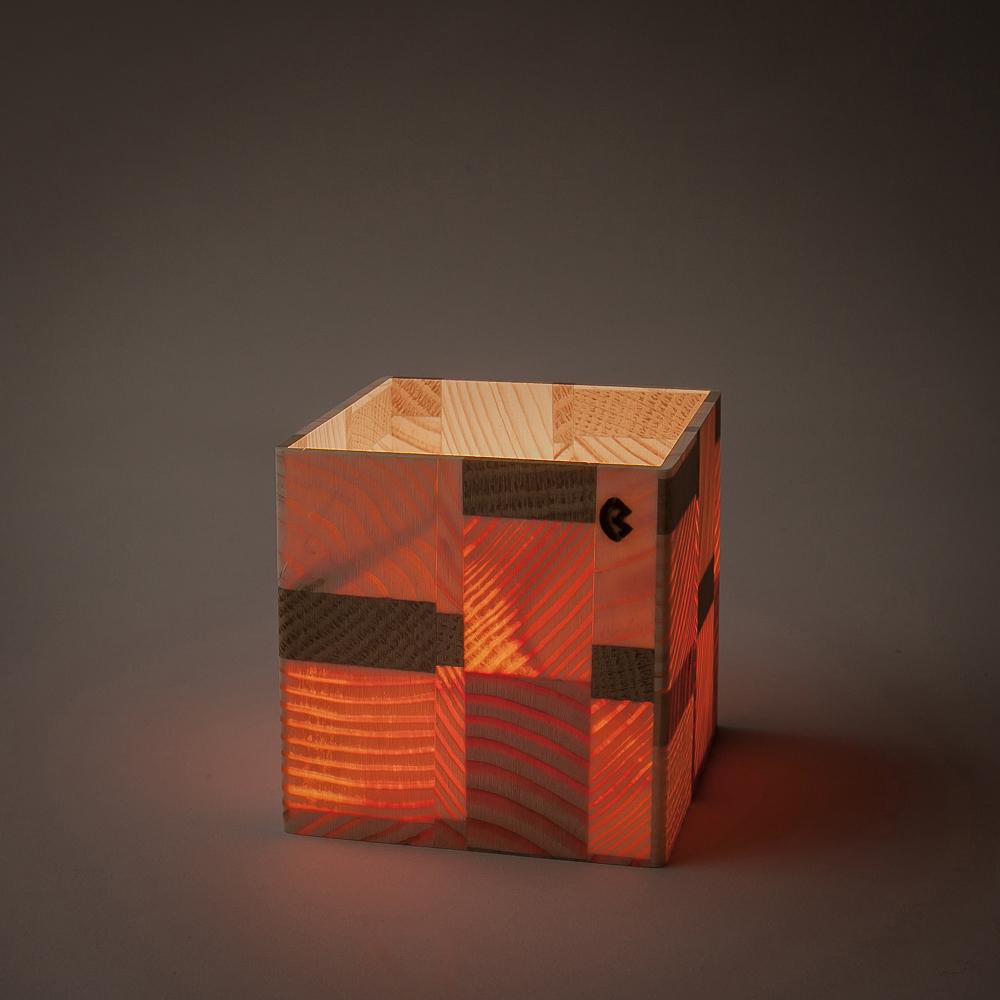 douglasie kiefer fichte eiche 7x7cm holz windlicht. Black Bedroom Furniture Sets. Home Design Ideas