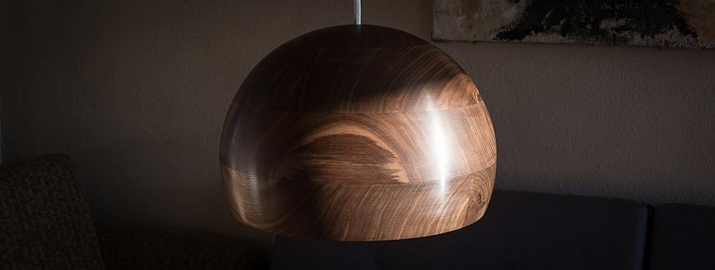auftrag leuchte walnu manufaktur f r holz und licht. Black Bedroom Furniture Sets. Home Design Ideas
