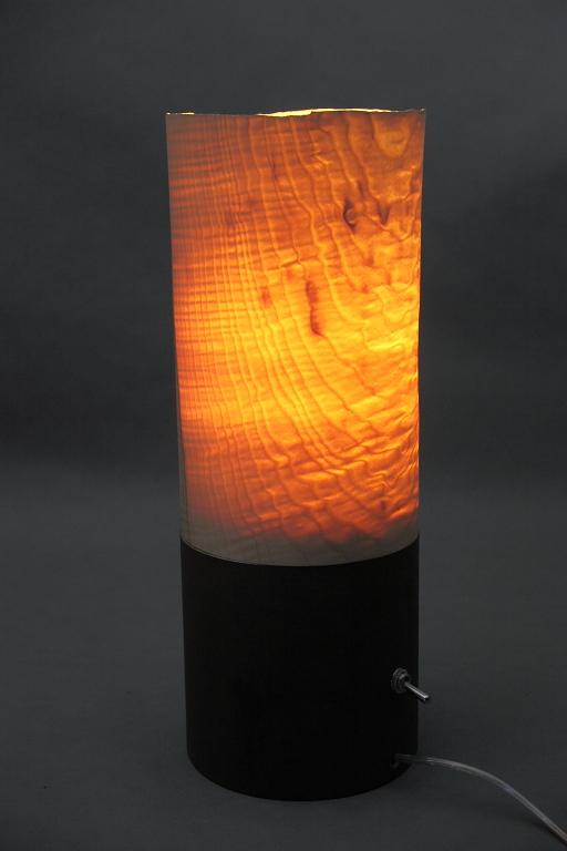 Steh Leuchte Aus Transluzentem Holz Der Riegel Esche