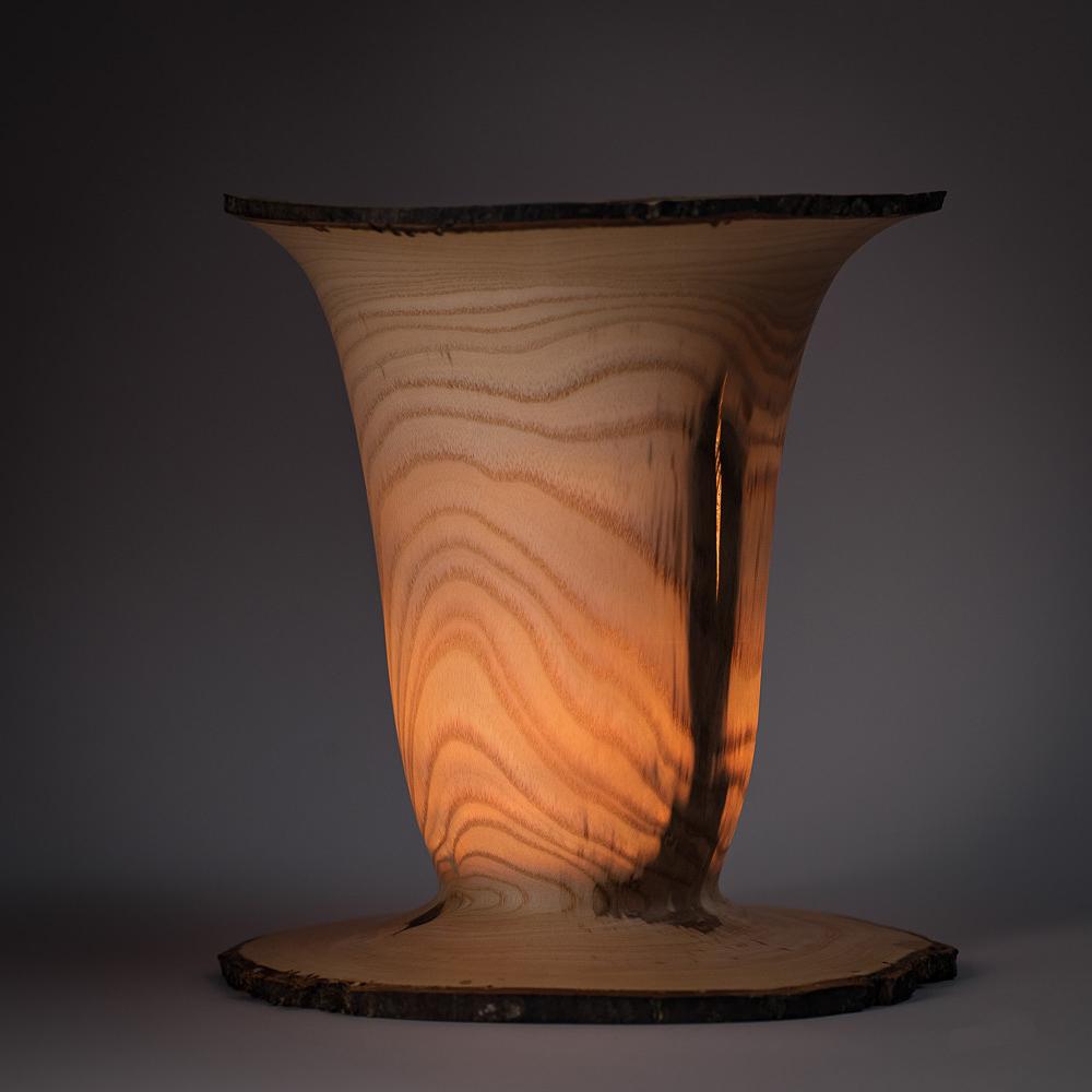 esche 16x17cm holz windlicht mit glas. Black Bedroom Furniture Sets. Home Design Ideas