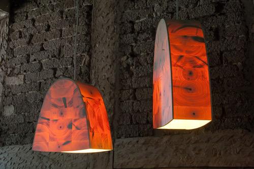 parabel h1 pendel leuchte aus holz von christian masche. Black Bedroom Furniture Sets. Home Design Ideas