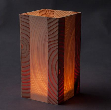 douglasie fichte 7x14cm holz windlicht mit glas. Black Bedroom Furniture Sets. Home Design Ideas